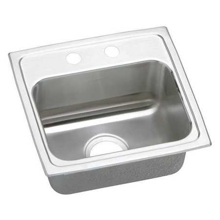 Drop-In Sink with Faucet Ledge, 17 In. L