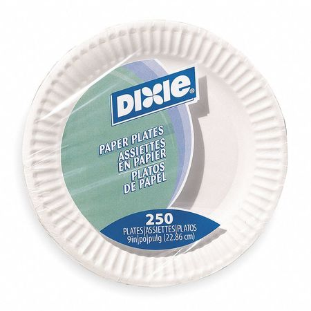 "Paper, Plate, Round, 9"", White, PK250"