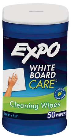 "Dry Erase Board Cleaning Wipes, 6x9"", PK50"