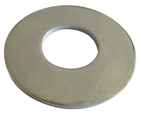 "1-1/8"" x 2-3/4"" OD Plain Finish 18-8 Stainless Steel Flat Washers,  10 pk."