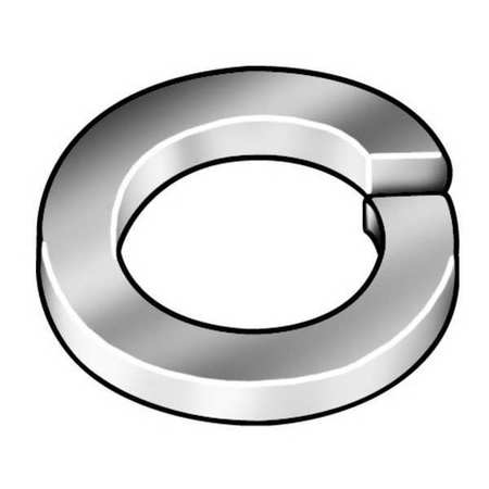 "#8 x 0.293"" OD SAE 1050-1065 Spring Steel Zinc Plated Steel Finish Standard Split Lock Washers,  100 pk."