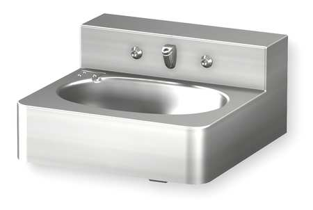 Penal Bathroom Sink, Stainless Steel, Wall