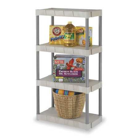 Shelving, Open, Freestanding, Poly, 56-1/4""