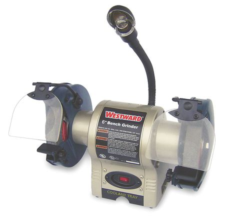 Bench Grinder, 6 In, 3450 RPM, 1/3 HP