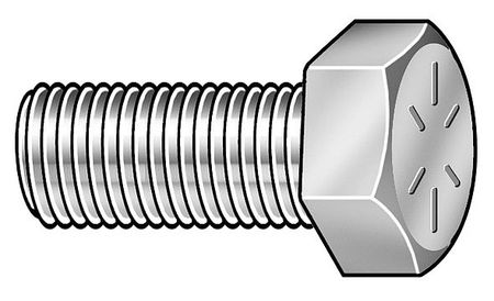 "1/2""-13 x 3/4"" Grade 8 Zinc Plated UNC (Coarse) Hex Head Cap Screws,  4 pk."