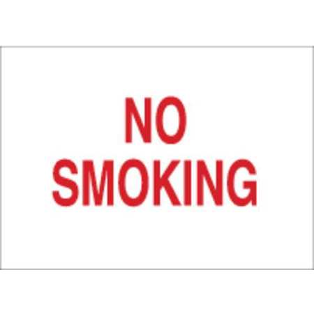 No Smoking Sign, 10 x 14In, R/WHT, ENG, Text