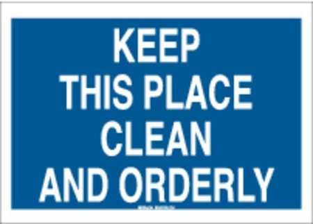 Notice Sign, 7 x 10In, WHT/BL, PLSTC, ENG
