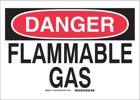 Danger Sign, 10 x 14In, R and BK/WHT, AL