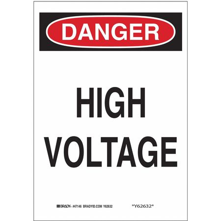 Danger Sign, 10 x 7In, R and BK/WHT, HV, ENG