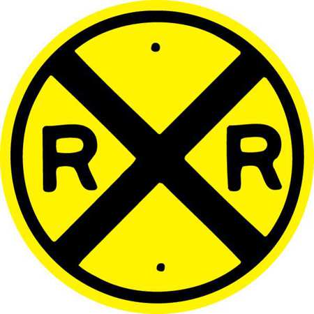 Traffic Sign, 30 x 30In, 30In, BK/YEL, RXR
