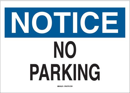 Notice Sign, 10 x 14In, BL and BK/WHT, Text