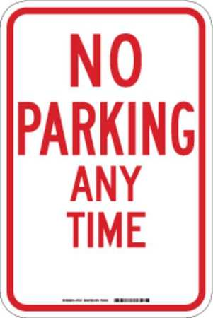 Parking Sign, 18 x 12In, R/WHT, Text, R7-1