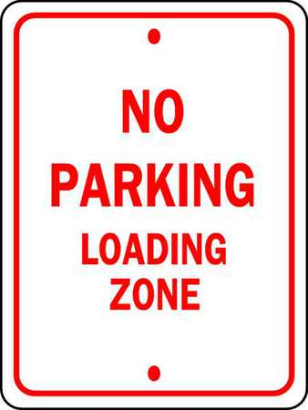 Parking Sign, 18 x 12In, R/WHT, Text, R7-6
