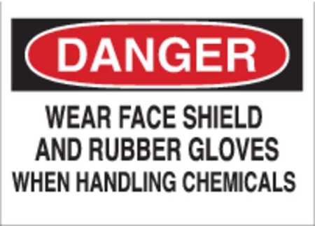 Danger Sign, 10 x 14In, R and BK/WHT, PLSTC