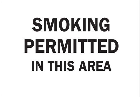 Sign, 10x14, Smoking Permitted in This