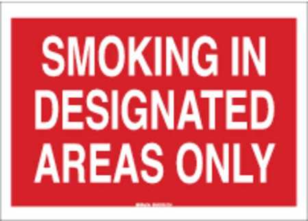 Sign, 7X10, Smoking In Designated Areas
