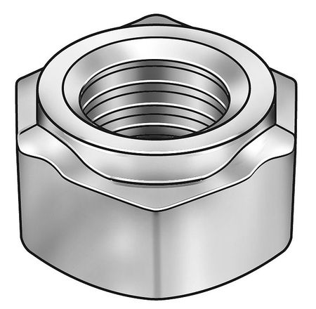 "3/8""-16 Steel Hex Weld Nut with Projections,  50 pk."