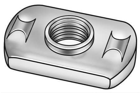 "1/4""-20 Steel Tab Base Weld Nut with Projections,  50 pk."