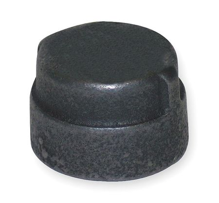 "2"" FNPT Black Malleable Iron Cap"