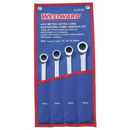 Ratcheting Wrench Set, Pieces 4