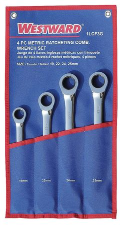 Ratcheting Wrench Set, Combination