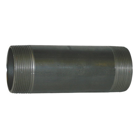 "2"" x 8"" NPT Threaded Black Pipe Nipple Sch 80"