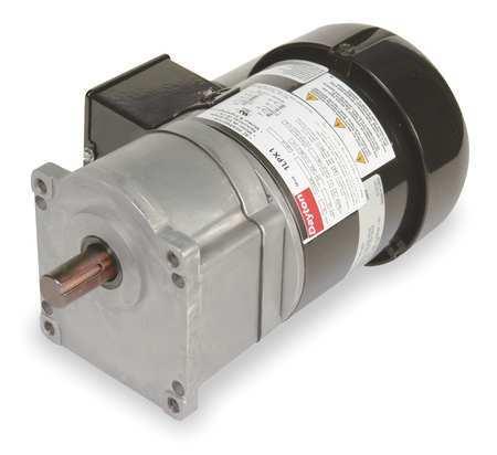 AC Gearmotor, 63 rpm, TEFC, 115/230V