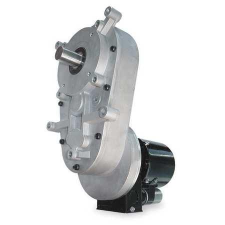 AC Gearmotor, 1 rpm, TEFC, 115/230V