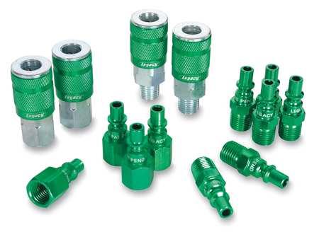 Coupler/Plug Kit, 1/4, Steel/Aluminum