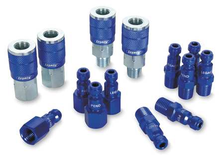 Coupler/Plug Kit, 1/4, Steel/Aluminum