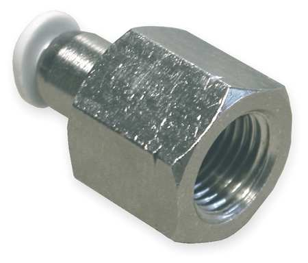 Adapter, Push In, Tube 1/8 In., PK10