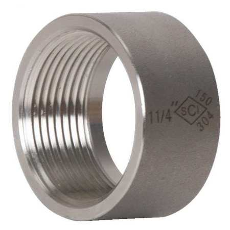 "1-1/4"" FNPT SS Half Coupling"