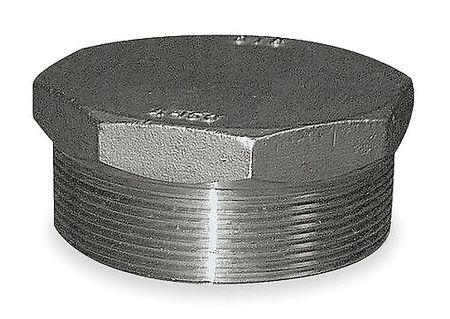 Hex Head Plug, 1 In, Threaded, 304 SS