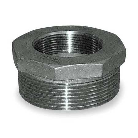 "2"" x 1-1/4"" MNPT x FNPT SS Hex Reducing Bushing"