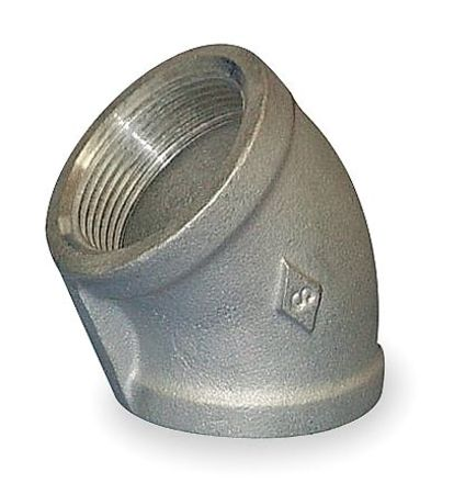 "1/8"" FNPT SS 45 Degree Elbow"