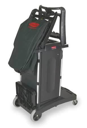 Housekeeping Cart, Black, Structural Web
