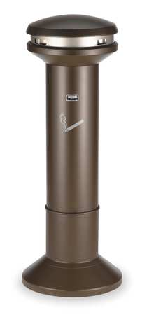 Cigarette Receptacle, 6-11/16 gal., Brown