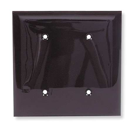 Blank Strap Mount Plate, 2 Gang, Brown