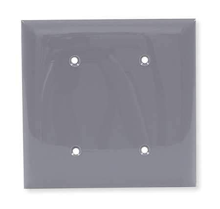 Blank Strap Mount Plate, 2 Gang, Gray