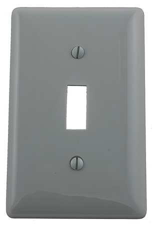 Toggle Switch Wall Plate, 1 Gang, Gray