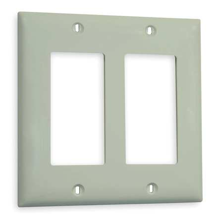 Rocker Wall Plate, 2 Gang, Office White