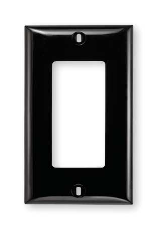 Rocker Wall Plate, 1 Gang, Black