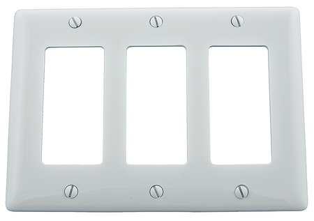 Rocker Wall Plate, 3 Gang, White
