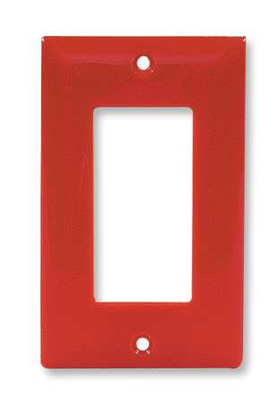 Rocker Wall Plate, 1 Gang, Red