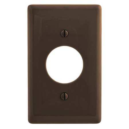 Single Receptacle Plate, 1 Gang, Brown