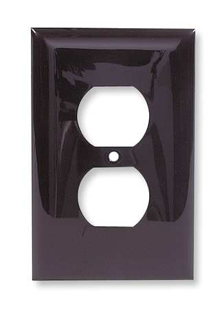 Duplex Wall Plate, 1 Gang, Brown