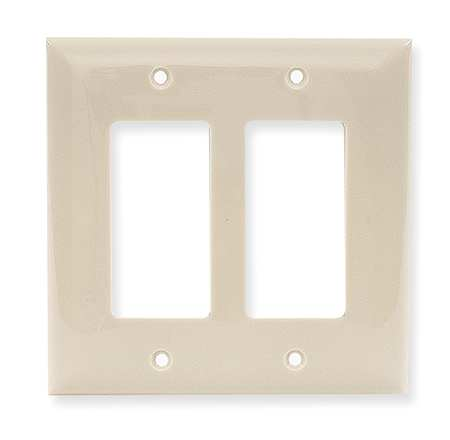 Rocker Wall Plate, 2 Gang, Ivory