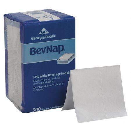 Beverage Napkin, BevNap, White, PK4000