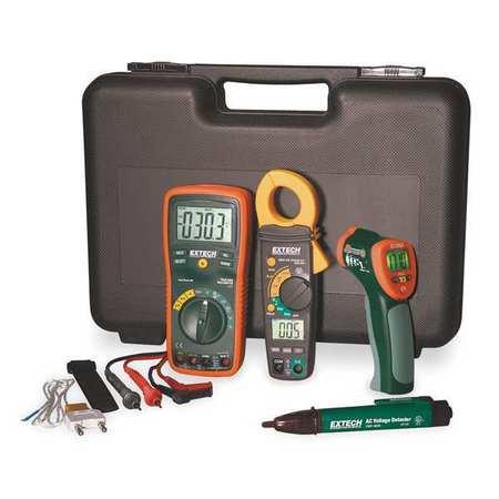 Multimeter, Clamp Meter, Thermometer Kit