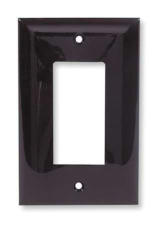 Rocker Wall Plate, 1 Gang, Brown